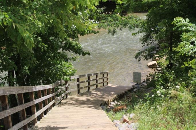 Wooden Steps Leading to Water at Robert Clark Park