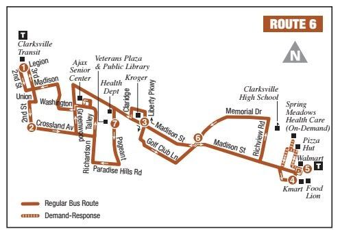 Route 6 Map